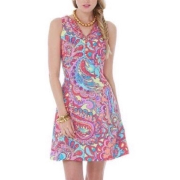 Lilly Pulitzer Lloyd dress In feeling groovy print